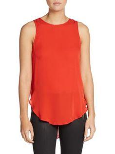 HAUTE HIPPIE Silk Draped-Back Blouse. #hautehippie #cloth #blouse