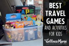 These travel games and activities are favorites with our kids and keep them busy during long road trips. Try an atlas, activity pads, toys and more!