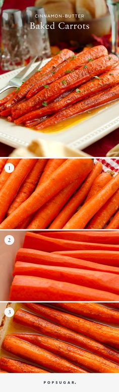 These Cinnamon-Butter Baked Carrots Will Steal the Show This Thanksgiving Easy Thanksgiving Carrot Recipe - I'll just swap the sugar for Swerve. Thanksgiving Appetizers, Thanksgiving Vegetables, Thanksgiving Prayer, Thanksgiving Drinks, Thanksgiving Sides, Thanksgiving Outfit, Thanksgiving Crafts, Thanksgiving Decorations, French Tips