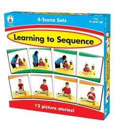 Learning to Sequence 4-Scene Board Game - Carson Dellosa Publishing Education Supplies