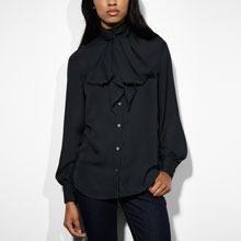 Tie Neck Blouse - Jet Black $39.90 - Buy it here: https://www.lookmazing.com/tie-neck-blouse-jet-black/products/5976504?shrid=46_pin