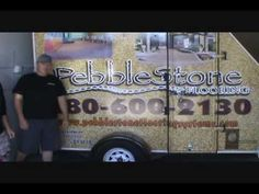 https://www.pebblestoneflooringsystems.com  A quick how to video on installation of pebble epoxy flooring. From Materials needed to installation demo.