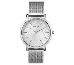 Timex Ladies Metropolitan Silvertone Mesh Analog Watch