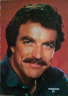 1982 vintage mint Magnum P.i. Tom Selleck Poster, Universal City Studios movie tv celebrity stars actor