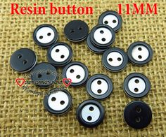 200PCS BLACK resin button 11MM SHIRT buttons bulk clothes accessories crafts R-132-3 $2,61