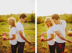 Paint fight engagement shoot!! I would love to do this with friends over the summer. :))