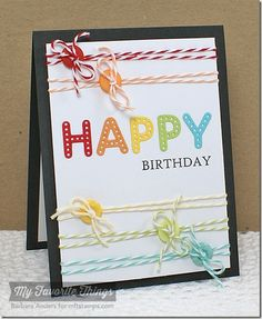 Bright Lights Birthday - MFT March Release Rewind by Bar - Cards and Paper Crafts at Splitcoaststampers Homemade Birthday Cards, Happy Birthday Cards, Homemade Cards, Scrapbooking, Scrapbook Cards, Card Tags, Paper Cards, Kids Cards, Cool Cards