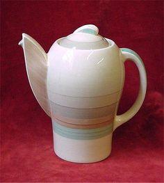 Susie Cooper Art Deco Coffee Pot. Crown Work, Burslem.