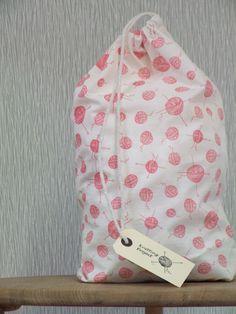 Hand printed Knitting Project Bag