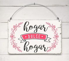 Cartel vintage | HOGAR DULCE HOGAR Christmas Envelopes, Deco Paint, Inspirational Phrases, Decoupage Vintage, Diy Signs, Hand Lettering, Christmas Diy, Diy And Crafts, Diy Projects