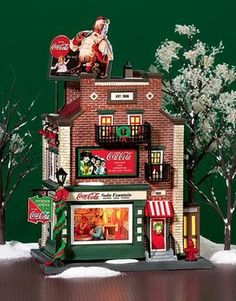 Coca-Cola Soda Fountain NEW Department Dept 56 Christmas In The City Village CIC