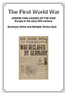 world war warhorse display english display  history first world war summary notes and multiple choice quiz