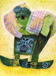 Illustration Jan Kudláček Illustration Children, Book Illustration, Children Books, Czech Republic, Bedtime, Illustrators, Painting, Animals, Beautiful