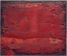 Antoni Tàpies (Spanish, 1923 – Pequeña Materia Roja Mixed media on wood. 46 × 55 cm × in). Abstract Expressionism, Abstract Art, Abstract Paintings, Picasso Cubism, Modern Art, Contemporary Art, Art Brut, Spanish Painters, Flash Art