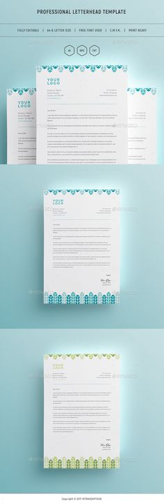 Corporate Letterhead Design Template V.1 - Print Template - Stationery Print Design Template Vector EPS, AI Illustrator. Download here: https://graphicriver.net/item/letterhead-v1-print-template/19414623?ref=yinkira