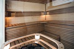 Soukromá sauna v Karlových Varech - Sauna. Blinds, Stairs, Curtains, Glass, Design, Home Decor, Stairway, Decoration Home, Drinkware