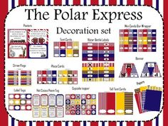 The Polar Express (Decoration set) blue, red, yellow cheap