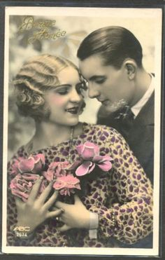 MY167-ART-DECO-COUPLE-Romantique-KITSCH-PHOTO-dART
