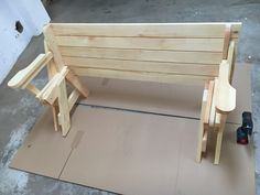 BATIKO ist die Gartentisch-Gartenbank-Kombination aus Naturholz geölt - Gartenmöbel mit Pfiff Folding Picnic Table Bench, Diy Picnic Table, Picnic Table Plans, Wooden Bench Plans, Woodworking Projects Diy, Planer, Projects To Try, Outdoor Decor, Furniture