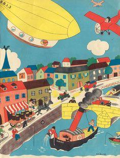 Lilou | album enfant, 1934 // vintage children book illustration ✭ graphic design inspiration