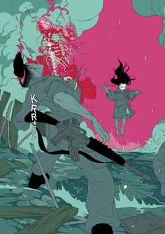 """astromech-punk: """"The Divine graphic novel cover by Tomer Hanuka """""""