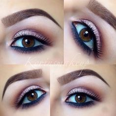 19. Rose Gold and Purple - 42 Gorgeous Eye Makeup Looks to Try ... → Beauty