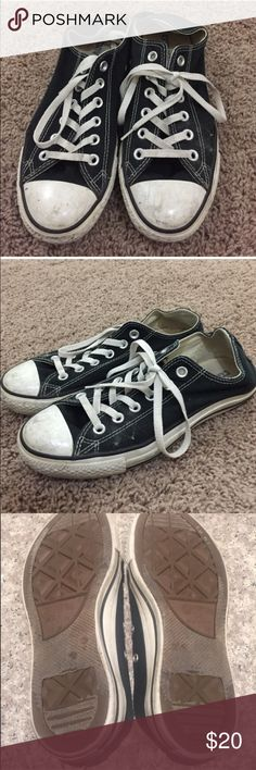 Black Low Top Converse Sneaker In awesome condition. I will clean them before shipping so that they're in top condition Converse Shoes Sneakers