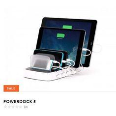 Griffin PowerDock 5: base de carga de reproductor digital, teléfono y tableta