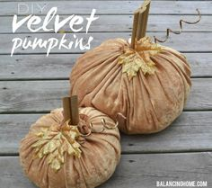 DIY Halloween : DIY Velvet Pumpkins
