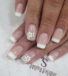 431 Me gusta, 1 come French Nails, French Manicure Nails, Manicure Nail Designs, Acrylic Nail Designs, Nail Swag, Cute Nails, Pretty Nails, Boutique Nails, Bride Nails