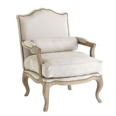 Wisteria - Furniture - Shop by Category - Chairs - Studded Lounge Armchair - Oatmeal Thumbnail 2 Lounge Armchair, Spring Bedroom, Studded Chair, Arm Chairs Living Room, Furniture, Furniture Shop, Linen Armchair, Grey Chair Bedroom, Vintage Chairs
