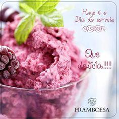 Ebaaaaa! Hoje é o #diadosorvete e o nosso preferido é o Sorvete de Framboesa!