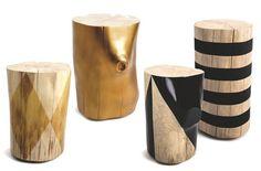 Des tabourets en bois design façonnés à la main - Réveiller le chalet - CôtéMaison.fr