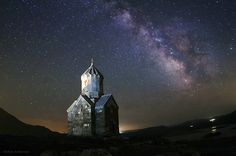 In a starry summer night of northern Iran near the border of Armenia, the lonely monastery of Dzordzor is photographed under the Milky Way. The monument which is a part of a group of Armenian monasteries in northwestern Iran, preserved as a World Heritage Site.