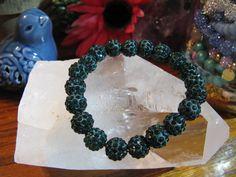 "New 8"" Dark Emerald Green Cuff Crystal Ball Shamballa Beaded Rustic Bracelet | Jewelry & Watches, Fashion Jewelry, Bracelets | eBay!"