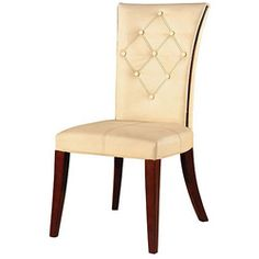 @Overstock - Enhance your home decor with these traditional dining chairsChairs are made of solid wood and tan colored leather for a sturdy look and feelDining room furniture sold as a set of two (2) chairshttp://www.overstock.com/Home-Garden/Traditional-Leather-Dining-Chairs-Set-of-2/3834322/product.html?CID=214117 $338.99