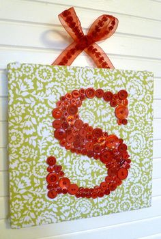 Nursery Letter Art with buttons crafty-gift-ideas
