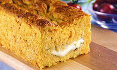 Pão de abóbora recheado de queijo