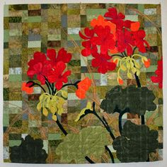 Geraniums by Linda Waddle.  Mountain Art Quilters.