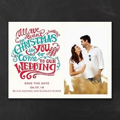 Christmas Wedding Save the Date Card | Save the Date Ideas