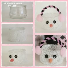 girly fir # 18 - The little decorations of Lolo - Simple Christmas, Christmas Crafts, Diy For Kids, Crafts For Kids, Handmade Christmas Decorations, Theme Noel, Snowman Crafts, Diy And Crafts, Girly