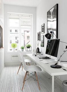 Small office design interior Small home office inspiration Small Office Design, Small House Design, Office Interior Design, Home Office Decor, Office Interiors, Modern House Design, Home Decor, Office Ideas, Office Designs