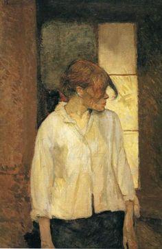 Henri de Toulouse-Lautrec. At Montrouge (Rosa La Rouge). 1886-87. Oil on canvas.