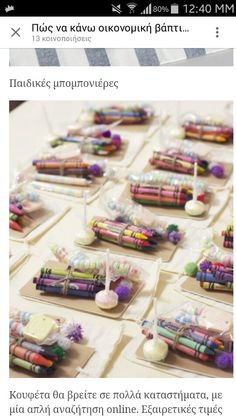 Another idea for the little ones--hand out a small pack of crayons and a garden themed coloring page