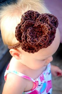 Flower Headband Tutorial @So the Cook Said i realize this is on a baby, but I need you to knit me one....pink please.