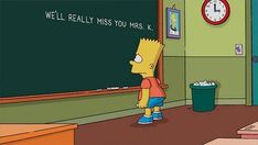 "And finally, of course, on loss… | The 23 Most Memorable Blackboard Gags From ""The Simpsons"""