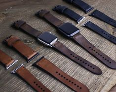 Etsy :: Your place to buy and sell all things handmade Apple Watch Fashion, Apple Watch Leather, Apple Watch Sizes, Leather Engraving, Leather Scraps, Apple Watch Bands 42mm, Leather Conditioner, Leather Keychain, Fashion Watches