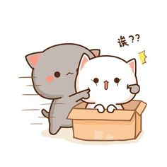 So cute cute trong 2019 dibujos kawaii, gatito bonito và gatos. Cute Cartoon Images, Cute Love Cartoons, Cute Cartoon Wallpapers, Cute Animal Drawings Kawaii, Kawaii Drawings, Cute Drawings, Chibi Cat, Cute Chibi, Cute Love Gif