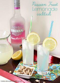Passion Fruit-Lemonade Cocktail.