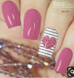 ideas fails design christmas gel for 2019 Pink Nail Art, Cute Acrylic Nails, Pink Nails, Cute Nails, Gel Nails, Pink Art, Girls Nail Designs, Nail Art Designs, Stylish Nails